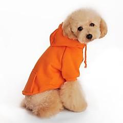 Psy Bluzy z kapturem Pomarańczowy Ubrania dla psów Wiosna/jesień Motyw świąteczny