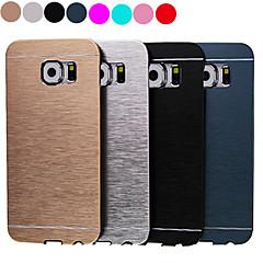 olcso Galaxy S6 tokok-luxus magas minőségű egyszínű csiszolt alumínium kemény tok Samsung Galaxy s6