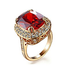 preiswerte Ringe-Damen Statement-Ring - Krystall, vergoldet Modisch 7 / 8 / 9 Für Hochzeit Party Alltag