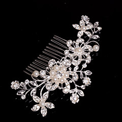 cheap Hair Jewelry-Alloy Hair Combs Headwear with Floral 1pc Wedding Special Occasion Casual Headpiece