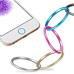 abordables Gadgets para Samsung-alta calidad del círculo protector anillo tapa de botón home metal para el iphone 6.6 más / 5s / ipad aire Mini 2 / ipad