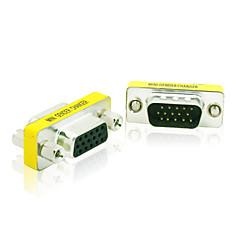 お買い得  ケーブル、アダプター-女性の15ピンM / Fモニター性別チェンジャーカプラアダプタコネクタに15ピンDB15のHDのSVGA、VGAオス