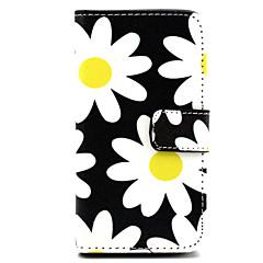 Недорогие Чехлы и кейсы для Nokia-Кейс для Назначение Nokia Кейс для Nokia Кошелек / Бумажник для карт / со стендом Чехол Цветы Твердый Кожа PU для