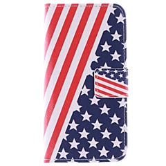 For Samsung Galaxy etui Kortholder / Med stativ / Flip / Mønster Etui Heldækkende Etui Flag Kunstlæder Samsung S6 edge