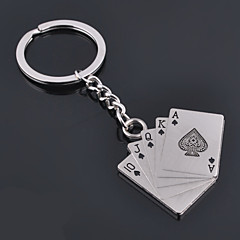 Unisex Alloy Casual Keychain Creative Poker Key Chains