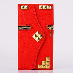 Til Samsung Galaxy etui Etuier Pung Kortholder Med stativ Flip Heldækkende Etui Punk Kunstlæder for Samsung S6 edge S6 S5 S4 S3