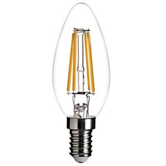 4W E14 LED Filament Bulbs C35 leds COB Decorative Dimmable Warm White 300-350lm 2800-3200K AC 220-240V