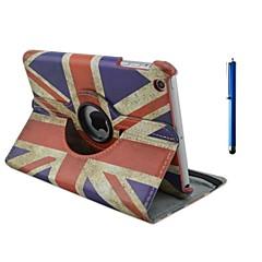 voordelige iPad Air hoesjes-hoesje Voor iPad Air met standaard Origami 360° rotatie Volledig hoesje Vlag PU-nahka voor iPad Air