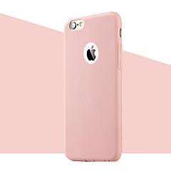 abordables Accesorios para iPhone 6s/6-Funda Para Apple iPhone 8 iPhone 8 Plus iPhone 6 iPhone 6 Plus Ultrafina Funda Trasera Color sólido Suave TPU para iPhone 8 Plus iPhone 8