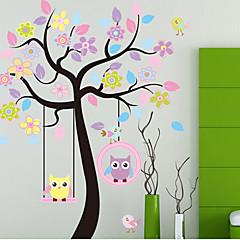 화려한 트리& PVC 벽 스티커 올빼미