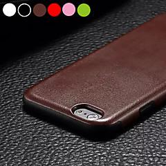 Недорогие Кейсы для iPhone 6-Кейс для Назначение Apple iPhone 6 iPhone 6 Plus Ультратонкий Кейс на заднюю панель Сплошной цвет Твердый Кожа PU для iPhone 6s Plus