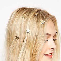 유럽 스타일의 패션 골드 스타는 (하나의) 스프링 클립 신부의 머리 장식의 머리핀을 돌려