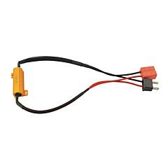 abordables Luces de Coche-socket h7 coche cancelador de advertencia de error conducido con resistencia de 8ohm 50w