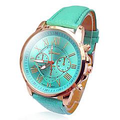お買い得  レディース腕時計-Geneva 女性用 クォーツ リストウォッチ カジュアルウォッチ PU バンド Elegant / ファッション 白 / ブルー / レッド / グリーン / ピンク