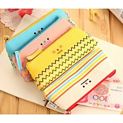 Cute Cartoon Expression of Pencil Bags (Random Color)