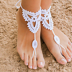 cheap Body Jewelry-Anklet - Flower Black / Gray / Pink For Christmas Gifts Wedding Party Women's