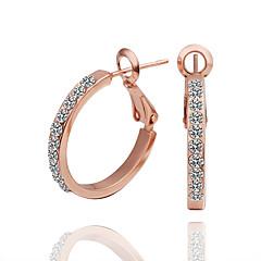 Dame Stangøreringe Store øreringe luksus smykker kostume smykker Kvadratisk Zirconium 18K guld Simuleret diamant Cirkelformet Smykker Til