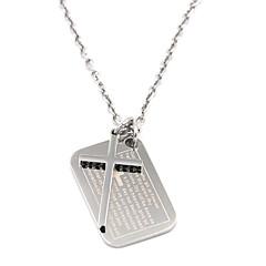 お買い得  ペンダント-ペンダント - ステンレス鋼 十字架 レディース, オリジナル シルバー ネックレス ジュエリー 用途 日常