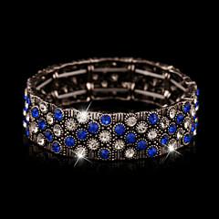 preiswerte Armbänder-Kristall Armreife - Strass, Diamantimitate, 18K Gold Retro, Party, Büro Armbänder Rot / Grün / Blau Für / Österreichisches Kristall