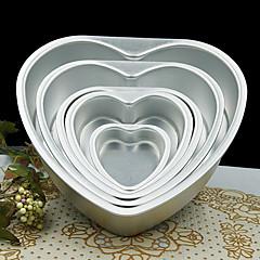 5 tommer metal kærlighed hjerte form kage skimmel aftagelig levende bund wienerbrød skimmel