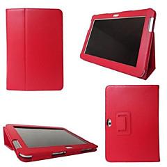 halpa Galaxy Tab 3 Lite kotelot / kuoret-Varten Samsung Galaxy kotelo Tuella / Flip Etui Kokonaan peittävä Etui Yksivärinen Tekonahka SamsungTab 4 10.1 / Tab 4 8.0 / Tab 4 7.0 /