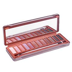 abordables All 60% OFF-12 colores Sombras de Ojos / Polvos / Espejo de maquillaje Ojo Espejo Maquillaje de Diario / Maquillaje Smokey Maquillaje Cosmético / Mate / Brillo