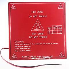 imprimante 3d reprap avec carte de circuit imprimé double de tension est mk2b de lit chauffé, le soutien 12v, 24v