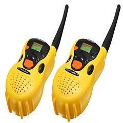 baratos -2pcs brinquedos de plástico portáteis walkie-talkie
