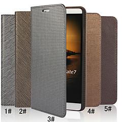Для Кейс для Huawei Кошелек / Бумажник для карт / со стендом / Флип Кейс для Чехол Кейс для Один цвет Твердый Натуральная кожа Huawei