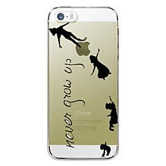 Недорогие Кейсы для iPhone 6-Кейс для Назначение Apple iPhone 7 / iPhone 7 Plus / iPhone 6 Plus Прозрачный / С узором Кейс на заднюю панель Слова / выражения Твердый ПК для iPhone 7 Plus / iPhone 7 / iPhone 6s Plus