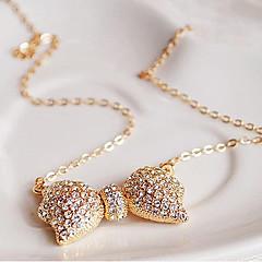 preiswerte Halsketten-Damen Anhängerketten - Strass Schleife Gold Modische Halsketten Schmuck Für