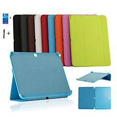 olcso Galaxy Tab 4 10.1 tokok-Case Kompatibilitás Samsung Galaxy Samsung Galaxy tok Állvánnyal Flip Origami Héjtok Tömör szín PU bőr mert Tab 4 10.1