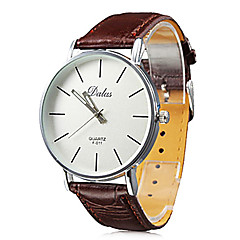 cheap -Men's Wrist Watch Japanese Quartz Casual Watch PU Band Analog Casual Minimalist Black / White / Red - Black Brown Red One Year Battery Life / SSUO SR626SW