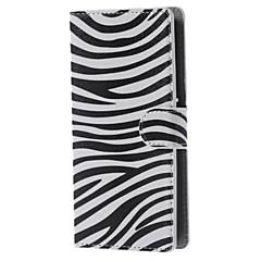 Недорогие Чехлы и кейсы для LG-Назначение Кейс для LG Чехлы панели Кошелек Бумажник для карт со стендом Флип Чехол Кейс для Полосы / волосы Твердый Искусственная кожа