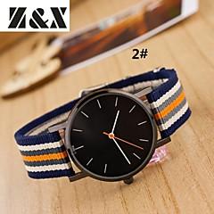 preiswerte Damenuhren-Damen Armbanduhr Schlussverkauf Nylon Band Streifen / Modisch Mehrfarbig