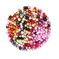 cheap Beads & Jewelry Making-DIY Jewelry 2000 pcs Beads Plastic Round Round Shape Bead 0.4 cm DIY Necklace Bracelet