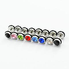 voordelige Oorbellen-Heren Dames Oorknopjes Luxe Kleurrijk Dubbelzijdig Modieus Roestvast staal Gesimuleerde diamant Sieraden Feest Dagelijks Causaal Kostuum