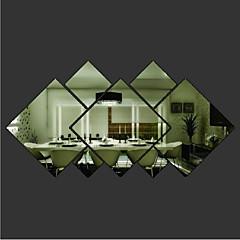 모양 벽 스티커 거울 벽스티커 데코레이티브 월 스티커 자료 이동가능 홈 장식 벽 데칼