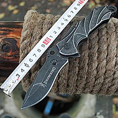 Outdoor Camping Three-dimensional Pattern Fold Self-defense Knife