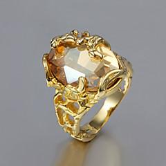 Statementringen Verguld Modieus Gouden Sieraden Bruiloft Feest Dagelijks Causaal 1 stuks