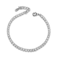 preiswerte Armbänder-Kristall Ketten- & Glieder-Armbänder - Party, Büro, Freizeit Armbänder Silber / Rotgold Für