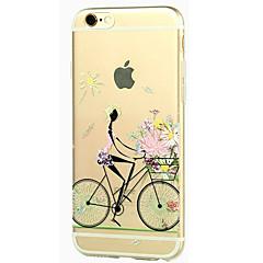 Недорогие Кейсы для iPhone-Для Кейс для iPhone 5 Прозрачный С узором Кейс для Задняя крышка Кейс для Соблазнительная девушка Мягкий TPU для iPhone SE/5s iPhone 5