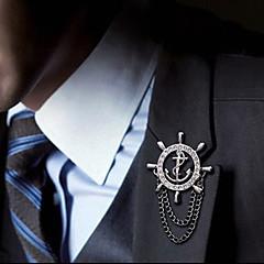 Ευρωπαϊκή άγκυρα καρφίτσα μόδας κράμα πηδάλιο (1pc)
