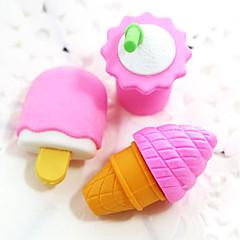 저렴한 -아이스크림 음료 고무 지우개 (임의의 색상을) 조립