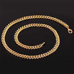 preiswerte Halsketten-Modische Halsketten Ketten Schmuck Halloween / Party Einstellbar / Rock vergoldet Goldfarben 1 Stück Geschenk