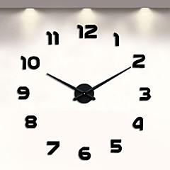 "Modern/Contemporan Altele Ceas de perete,Altele Metalic 18.5 x 18.5 x 6(7.28"" x 7.28""x 2.36"") Interior Ceas"