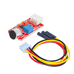 Sound Sensor (Red) 1 Hole White Terminal With 3Pin DuPont Wire