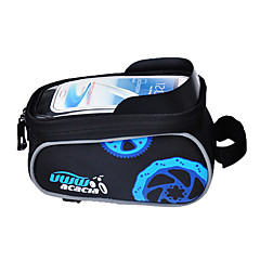 acacia Bike Frame Bag Cell Phone Bag 5.5 inch Rain-Proof Multifunctional Touch Screen Cycling for Samsung Galaxy S6 LG G3 Iphone 8 Plus /