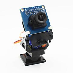abordables Robots y Accesorios-2 ejes cabeza de la cámara FPV cuna + conjunto de cámara OV7670 de robot / r / c coche - negro + azul