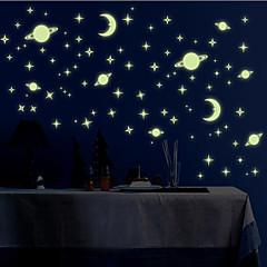 빛나는 벽 스티커 벽 데칼 스타일의 작은 우주 PVC 벽 스티커